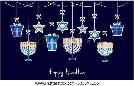 Happy hanukkah greeting card background vector stock vector happy hanukkah greeting card or background vector illustration m4hsunfo