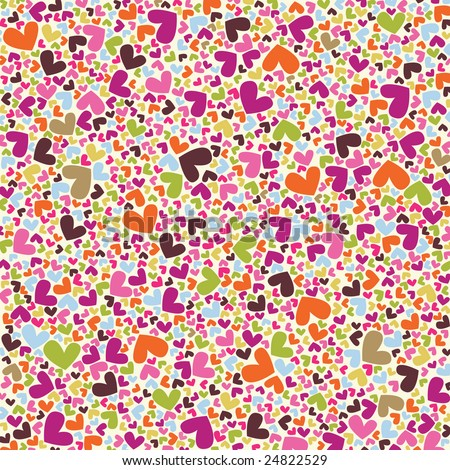 happy hearts vector pattern