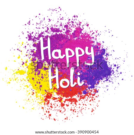 Happy Holi spring festival of colors greeting vector background for flyer, banner or pamphlet design. Indian Festival of Colours, Happy Holi celebration. - stock vector