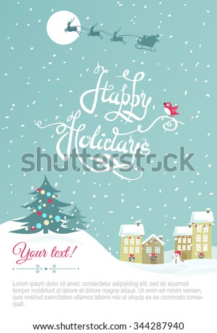 Happy holiday card - Vector Illustration.Happy holiday card. Eps 8 file - stock vector