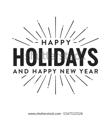 Happy Holidays Happy New Year Vector Stock Vector (Royalty Free ...