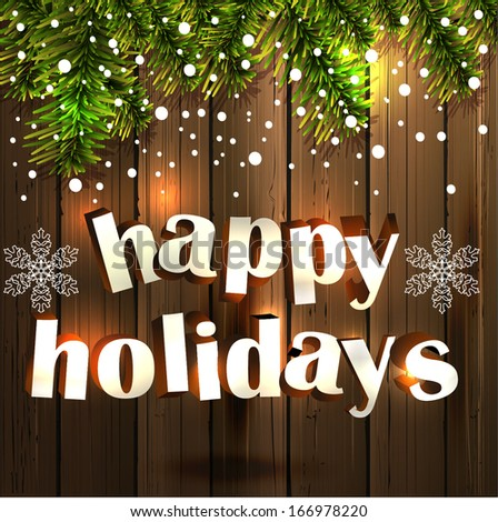 Happy Holidays Background.Vector - stock vector