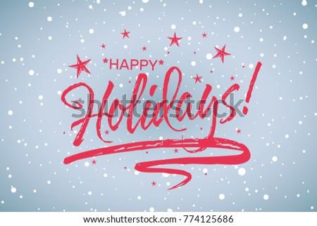 holiday greeting word