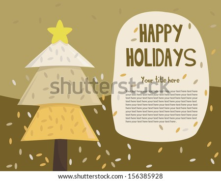 Happy Holidays Card - stock vector