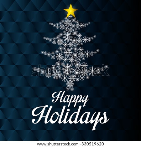 Happy holidays christmas season design, vector graphic. - stock vector