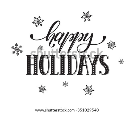 Happy Holidays Postcard Template Modern New Stock Vector 351029540 ...