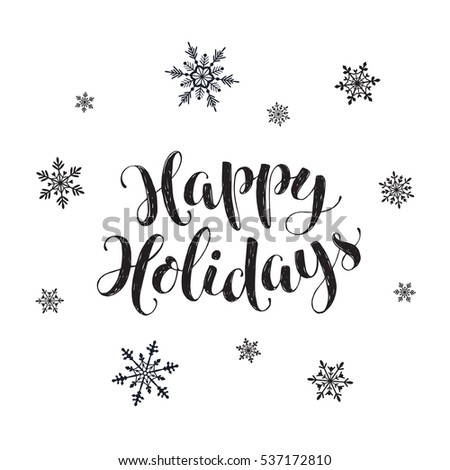 Happy Holidays Postcard Template Modern New Stock Photo (Photo ...
