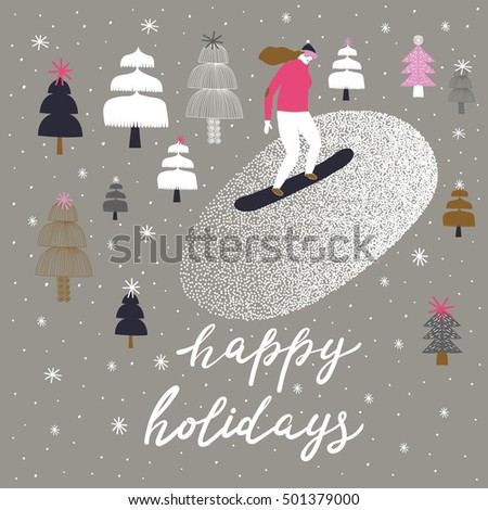 Happy Holidays. Print Design