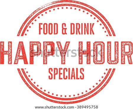 Happy Hour Bar and Restaurant Specials - stock vector