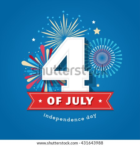 Happy independence day card United States of America, 4 th July - stock vector