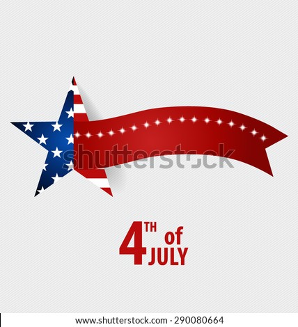 Happy independence day card United States of America. 4 th of July banner illustration design with american flag. - stock vector