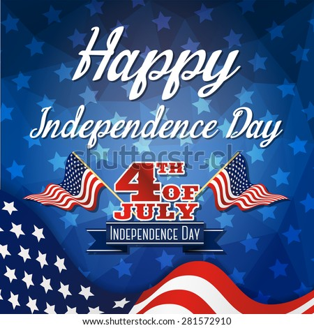 Happy independence day celebration greeting card