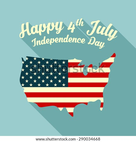 happy independence day, 4th of july  - stock vector