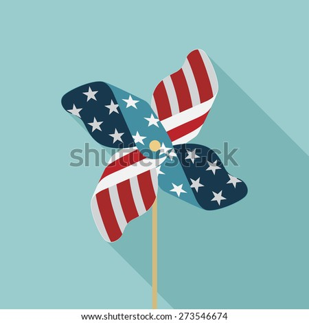 Happy independence day United States of America, 4th of July car - stock vector