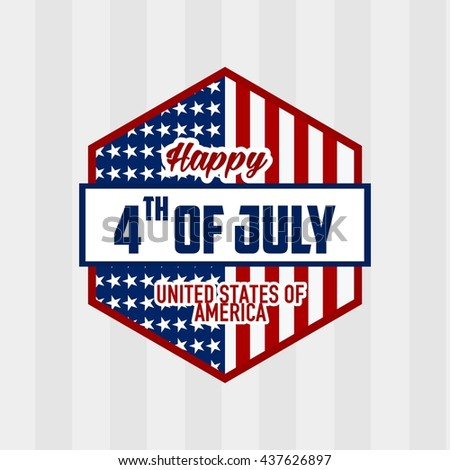 Happy Independence Day, United States of America, 4th of July greeting card template