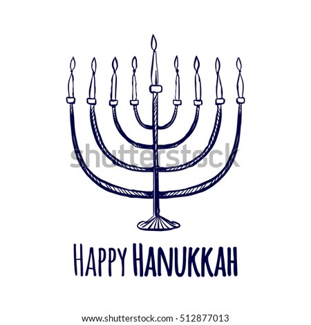 Happy jewish holiday hanukkah greeting card stock vector 512877013 happy jewish holiday hanukkah greeting card vector illustration m4hsunfo Image collections