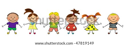 happy kids. - stock vector