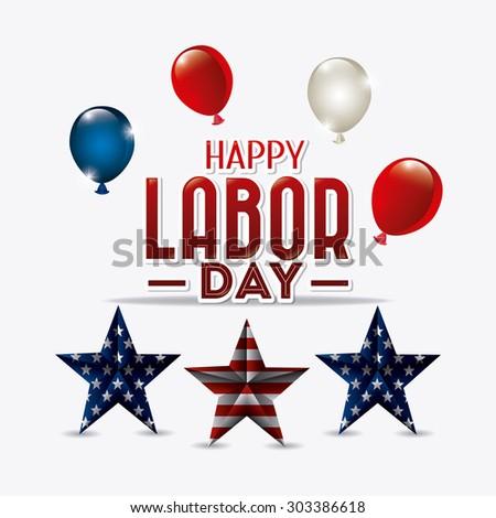 Happy labor day card design, vector illustration eps 10. - stock vector