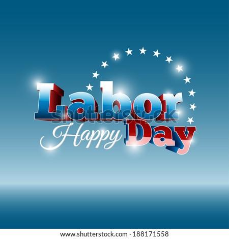 happy labor's day - stock vector