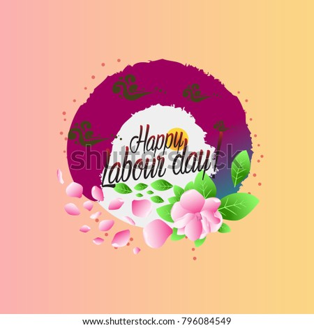 Happy labour day beautiful greeting card stock vector 796084549 happy labour day beautiful greeting card m4hsunfo