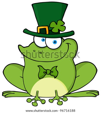Happy Leprechaun Frog. Jpeg version also available in gallery. - stock vector