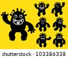 Happy Liquid / ink Monster Character - stock photo