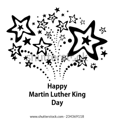 Happy Martin Luther King Day american.  Vector Illustration - stock vector