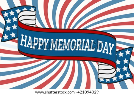 happy memorial day background template blue stock vector 421094029