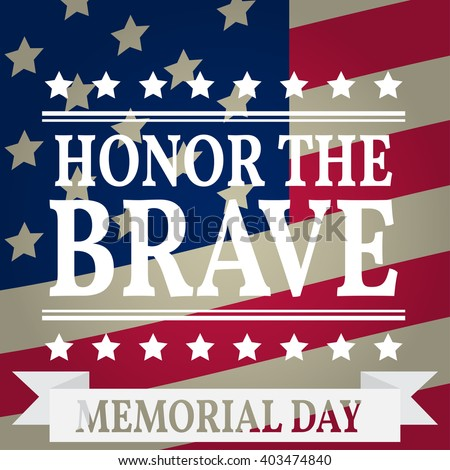 Happy Memorial Day. Memorial Day greeting card. Memorial Day Vector illustration. American Flag. - stock vector