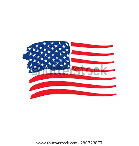 Happy Memorial Day Vector and Patriotic American Flag