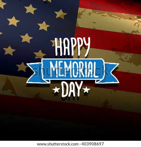 Happy Memorial Day vector background