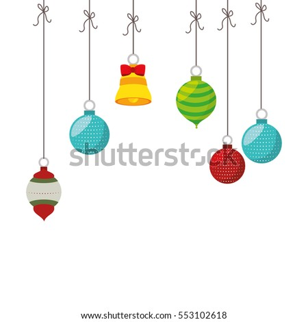 happy merry christmas balls card