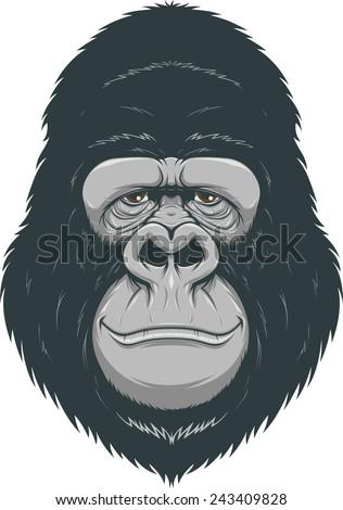 Happy monkey - stock vector