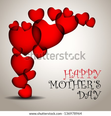 Happy mother day background with heart - vector illustration - stock vector