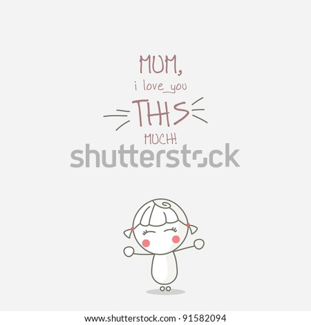 Happy Mother's day. - stock vector