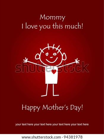 Happy Mother's Day - stock vector