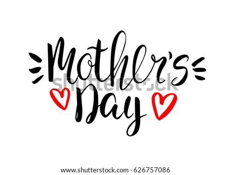 Happy mothers day card handwritten calligraphic stock vector