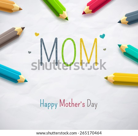 Happy Mother's Day, eps 10 - stock vector