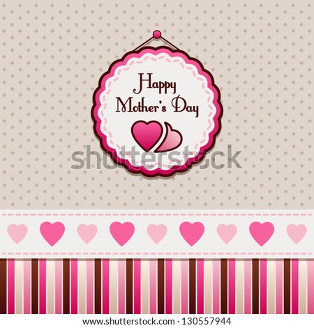 Happy Mother's Day, greeting card. - stock vector