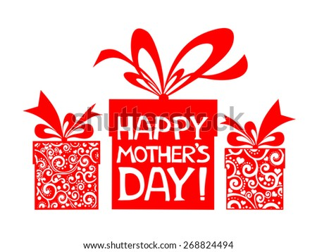 Happy Mother's Day! Greeting card.  - stock vector