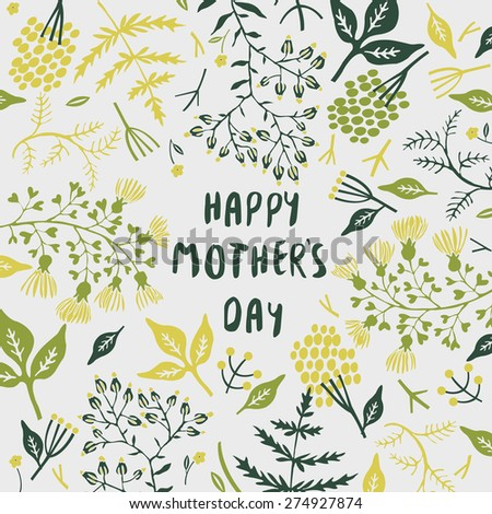 Happy Mother's Day. Greeting Card - stock vector