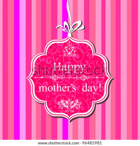 Happy Mother's Day! Greeting card. Vector Illustration