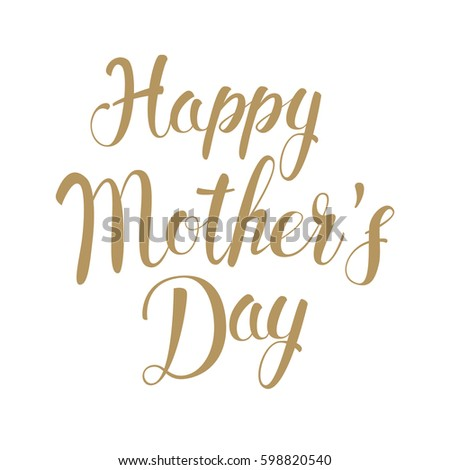 Happy Mother's Day. Holiday background typography design. Vector illustration.
