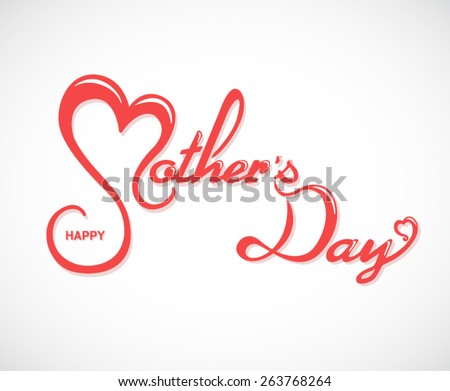 Happy Mother's Day Lettering Background