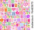 Happy Mother's Day! Seamless pattern. Vector Illustration - stock vector