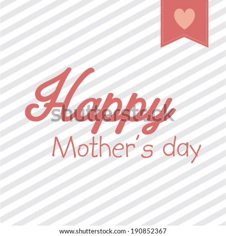 happy mother's day vector poster design template/ layout design/ background