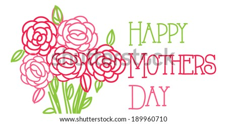 Happy mothers day bouquet - stock vector