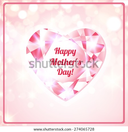 Happy Mothers Day card - stock vector