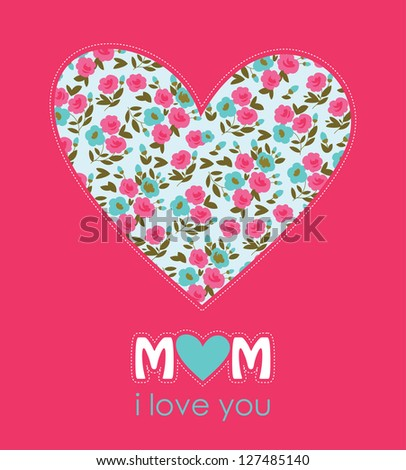 Happy Mothers Day Card Design Vector Stock Vector