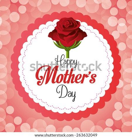 Happy Mothers Day Card Design Vector Stock Vector 263632049 ...